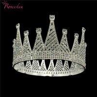 Elegant Shining Wedding Tiara Crown Full Circle Round Crowns Diadem Popular Bride Hair Jewelry RE3047