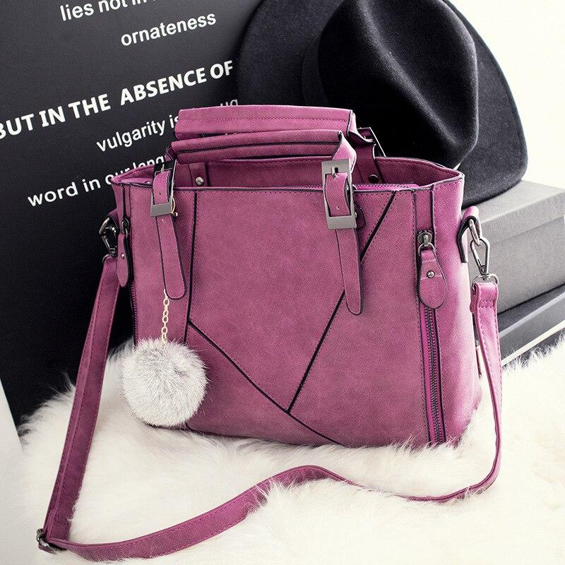 New fashion matte strap handbags casual shoulder bag European and American fashion messenger bag Lady handbags Free shipping