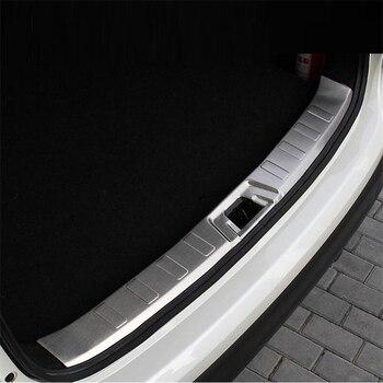 Paneles traseros del maletero del coche Pedal del coche cromo actualizado decorativo accesorio del estilo del coche brillante 16 17 para Nissan Qashqai