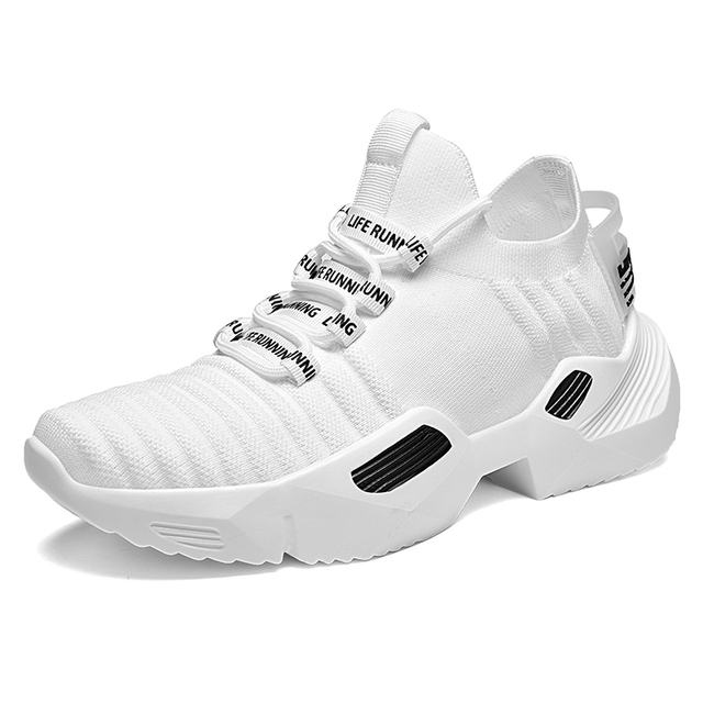 Ins Trend Sport Shoes Man Socks Shoes Man Running Shoes Outdoor Flying Weaving Non-slip Heighten Dad Sneakers Footwear zapatos 3
