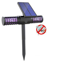 UV LED Solar Mosquito Killer Lamp Solar Powered Outdoor Yard Garden Lawn Light Anti Mosquito Insect Pest Trapping Lantern Lamp недорого