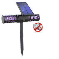 UV LED Solar Mosquito Killer Lamp Solar Powered Outdoor Yard Garden Lawn Light Anti Mosquito Insect Pest Trapping Lantern Lamp