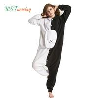 Cute Cartoon Womens Comfortable Flannel Pajamas Set Sleepwear Loungewear Soft Pajamas Unisex Homewear For Sleepwear Adult