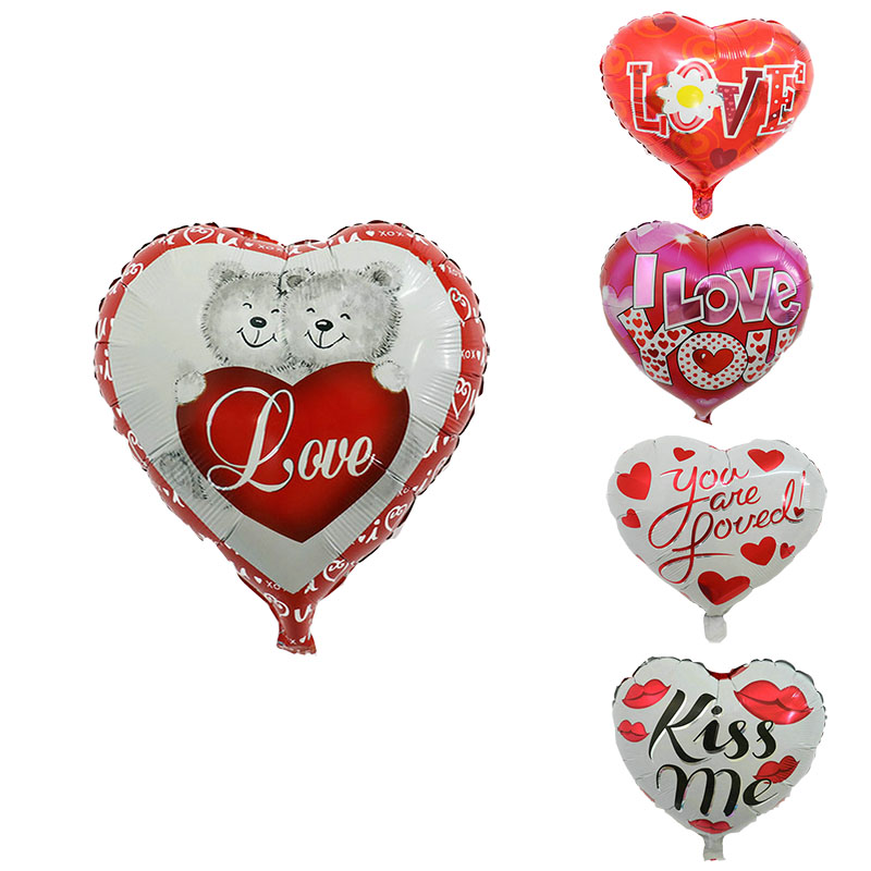 1PC 18inch Happy Muttertag Herzform Aluminiumfolie Luftballons Wedding Love Party liefert Valentinstag Geschenk Dekoration Globo