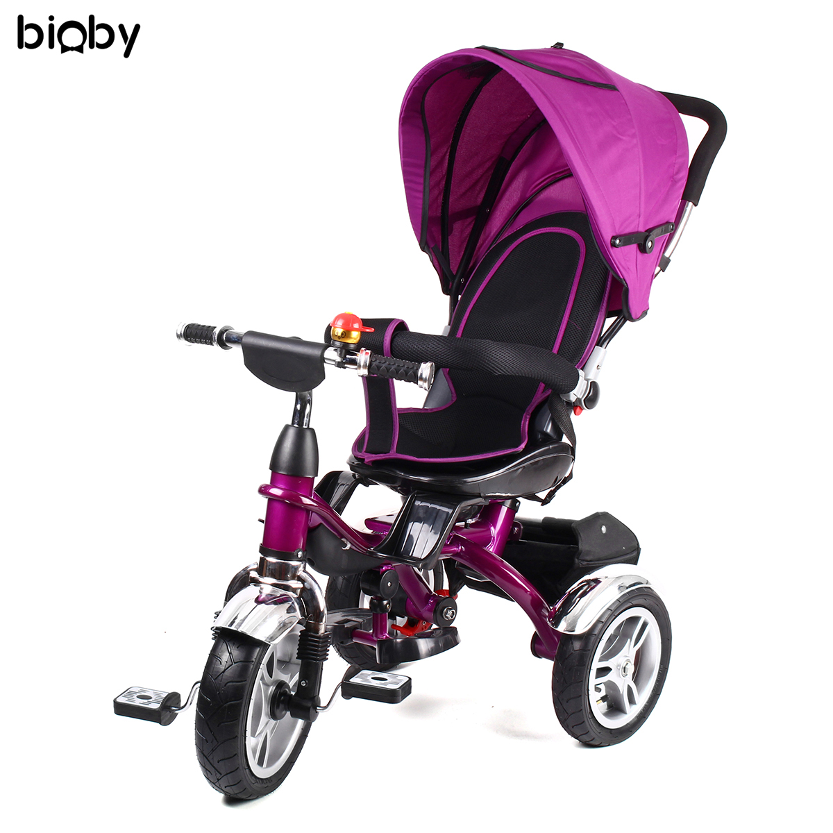 Baby Kids Reverse Toddler Tricycle Bike Trike Ride-On Toys Stroller Prams 360 Degree Rotating Chair Car Seats Sleeping Safety окошкина е ред визуальный итальянско русский словарь