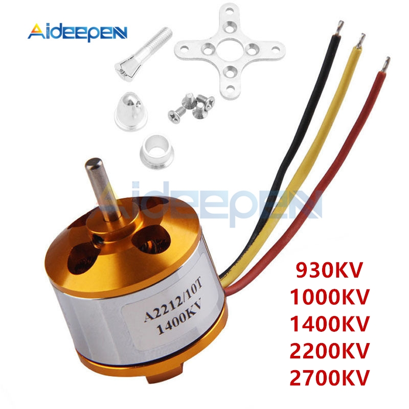 A2212 930//1000//1400//2200//2700KV Brushless Drone Outrunner Motor For Aircraft