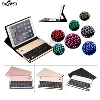 Removable Aluminum Bluetooth Keyboard PU Leather Case For Apple IPad Pro 10 5 Adjustable Backlight Seven