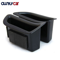 2Pcs Set Black Front Door Handle Storage Box Container Holder Tray Car Accessories For Volvo V40
