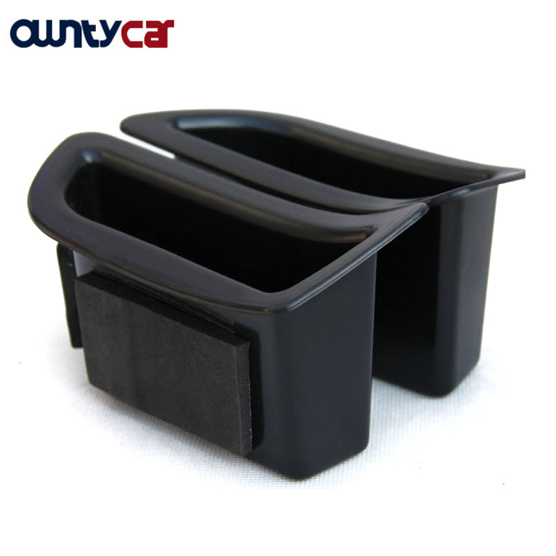 2Pcs/set Black Front Door Handle Storage Box Container Holder Tray Car Accessories For Volvo