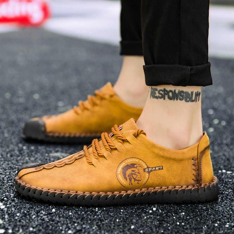Neue Bequeme Casual Boot Schuhe Müßiggänger Männer Schuhe Qualität Split Schuhe Männer Wohnungen Heißer Verkauf Lofers Mokassins Schuhe Große Größe 2019
