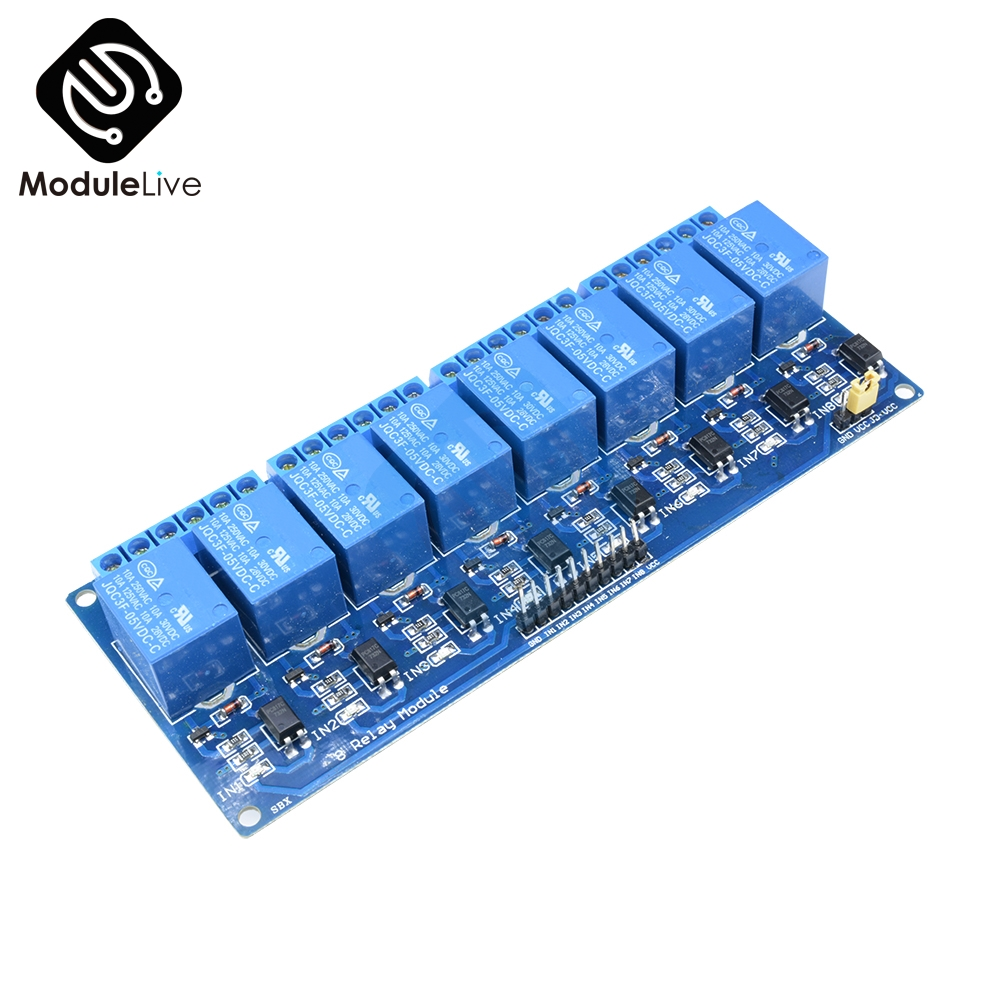 5V 8CH 8 Channel Relay Module Board For Arduino Optocoupler 8 Channel Relay Smart Home Switch Max 10A AC 250V DC 30V digital meter charge and discharge tester dc 8 28v control switch dc 0 30v 10a ac 0 250v 10a relay controller