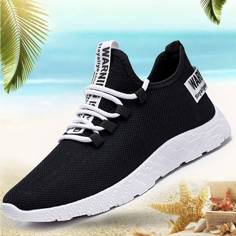 HTB1HwZMa9WD3KVjSZSgq6ACxVXa4 - Mesh Shoes Men Fashion Casual Sneakers Lace Up Lightweight Breathable Walking Sneakers Tenis Masculino Zapatos Dropshipping