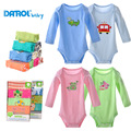 5 Pieces Baby Bodysuits DANROL Long Sleeved Boys Girls Clothing Triangle Newborn Bodysuits Cotton 3-24M V20