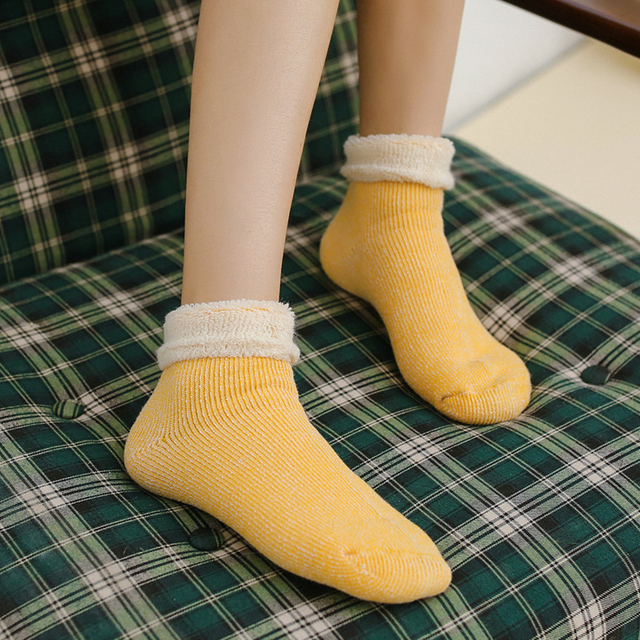 4c308045fbf Chic Womens Heavy Thick Socks Lovely Casual Design Pink Harajuku Female  Crew Sock Solid Cosy Women