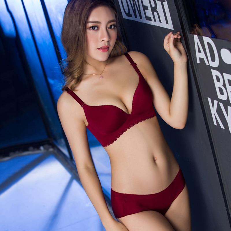 Sexy Women   Bra     Set   Adjustable Seamless Lady Brassiere Suit Push Up   Bra   Panties   Set   B C up Underwear Lingerie Female   Set