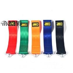 5 cor Reboque Corda de Nylon Tow Strap Eye Tow Loop Strap Competência da Tração Rally Ferramenta da Emergência Sem Parafusos e Porcas