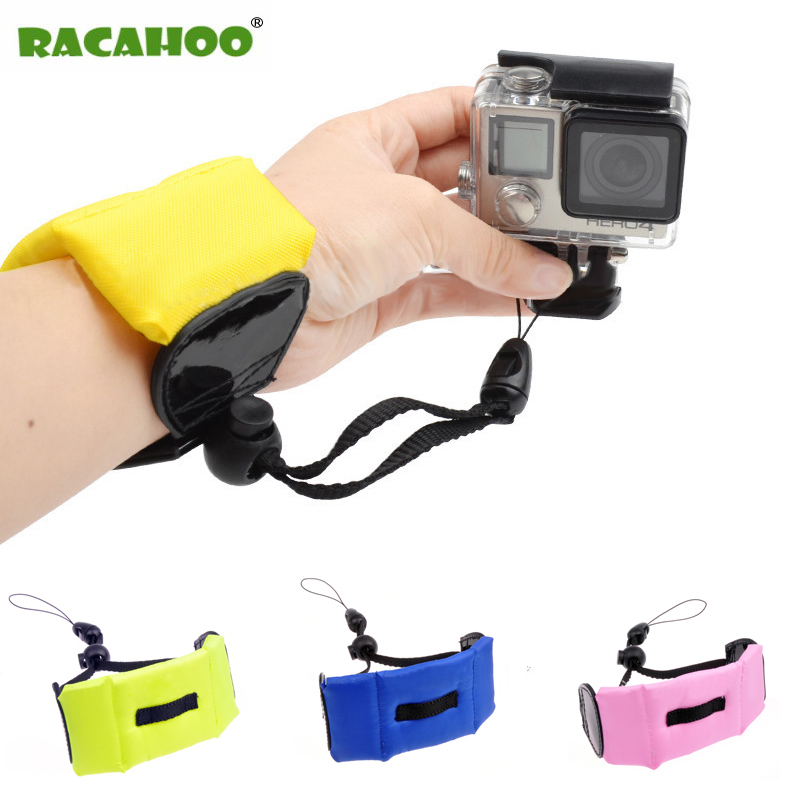RACAHOO 1pc Color Underwater Floating Foam Wrist Arm Hand Strap for GoPro Hero 4 3+ Sj4000 Mini Digital Float Wrist Camera strap gopro wrist strap mount arm strap mount hook