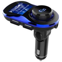 VODOOL 1pc Bluetooth Car Kit With Handsfree FM Transmitter Bluetooth Receiver Car Charger Support TF Card