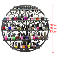 5/6 Layer Iron Nail Polish Shelf Manicure Cosmetics Boutique Store Shelves Round Gel Nail Polish Display Wall Rack