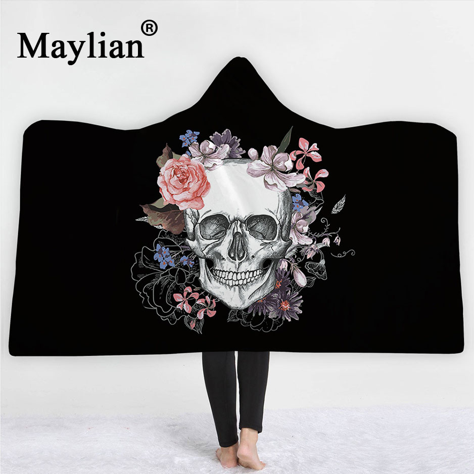 Hooded Blankets Personality Colorful Super Soft Animal Style 3D Digital Printing Wearable Nap Cloak Double Layer Blanket Keep Warm Blanket for Child Adult