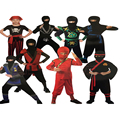 Children Super handsome Boy Kids black red green warrior  ninja costumes Halloween party game performance clothing clothes