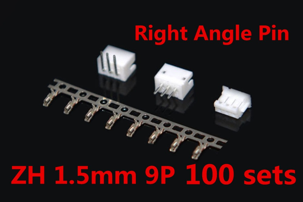 JST ZH 1.5mm 9-Pin Right Angle Pin Male, Female Connector socket with crimps 100 Sets гели для посудомоечных машин