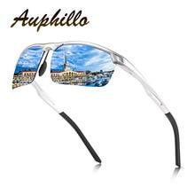 Polarized Sunglasses Men Luxury Brand Aluminum Magnesium Semi-Rimless Driving Glasses UV400 Eyewear Accessories