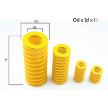 Od 30mm Id 15mm,H30-300, Light Load Compression Mould Die Spring Yellow