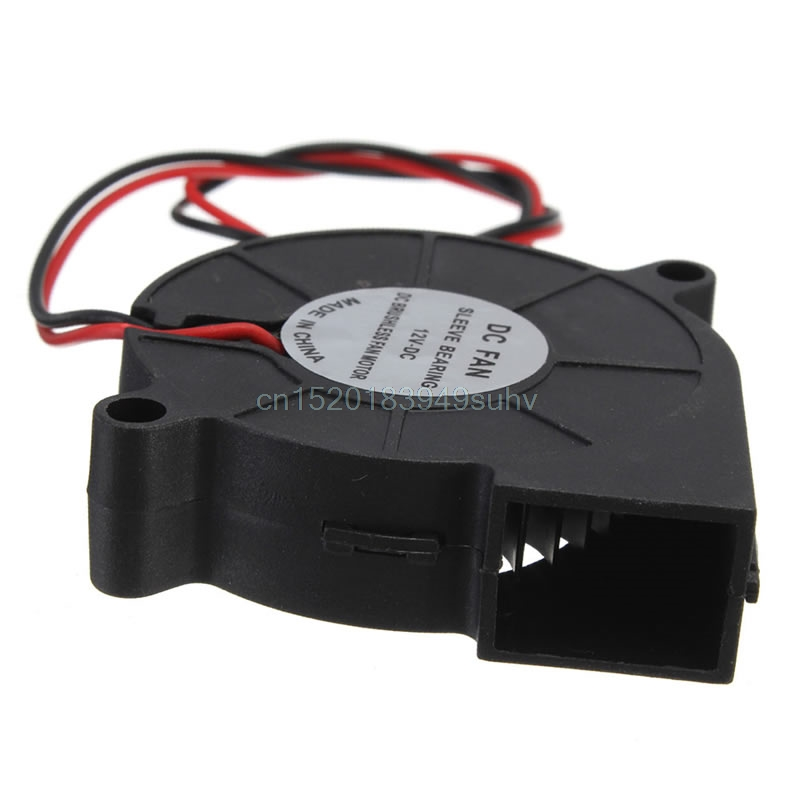 DC 12V 50mm Blow Radial Cooling Fan Hotend Ekstruder Køler Til RepRap 3D Printer # L059 # Ny Hot