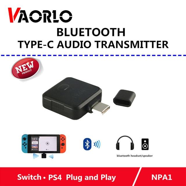 374c3cc89089de Tipo-C Trasmettitore Bluetooth Nintend Gioco Interruttore Accessori Audio  Mini USB Stereo Senza Fili Adattatore Per Nintend Interruttore PS4 TV PC