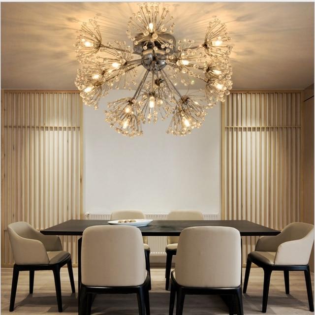 Crystal Ceiling Lights Led Light Vintage Modern Bedrooms Dandelion ...