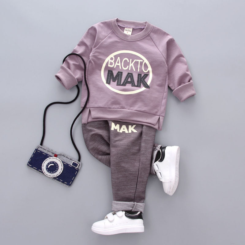 Baby boy clothes 2018 New Spring Fashion Cotton Long Sleeve t-shirt + casual long pants 2pcs suit Baby clothing clothes