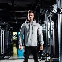 Streetwear casual mens brand hoodie 2019 new fitness sportswear jogger gyms bodybuilding fashion