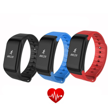 Фитнес Tracker браслет Heart Rate Мониторы Smart Band F1 SmartBand Приборы для измерения артериального давления с Шагомер Браслет IP65 водонепроницаемый