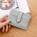 Rinka doll Women Card Wallets  High Quality PU Hasp Solid  Square Package Billeteras Para Mujer Q096