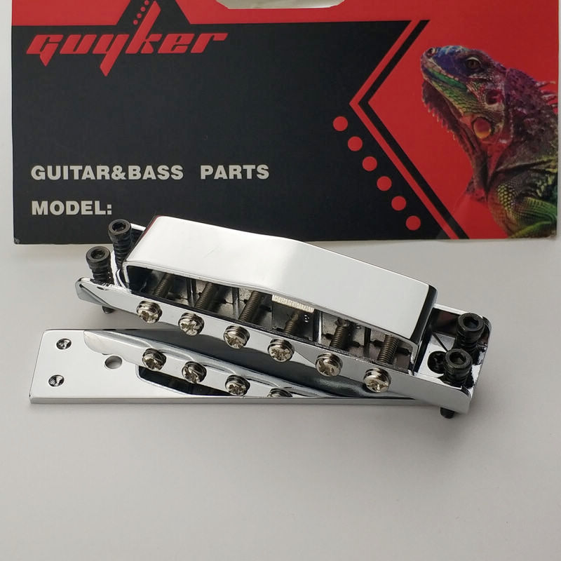 Chrome Ricken-backer Style Guitar Bridge Cover And Base Plate RK-100 free shipping high quality 3 pickups ricken 325 electric guitar backer with super tremolo system bridge factory direct