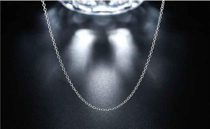 """10 sztuk/partia promocja! Hurtownie 925 sterling srebrny naszyjnik, srebrna biżuteria łańcuch Rolo 1mm naszyjnik 16 18 20 22 24"""""""