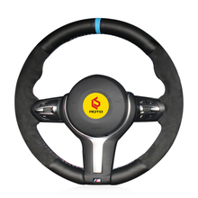лучшая цена Braid on the Steering Wheel Cover for BMW F87 M2 F80 M3 F82 M4 M5 F12 F13 M6 F85 X5 M F86 X6 M F33 F30 M Sport funda volante