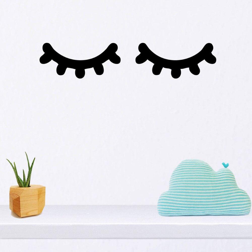 Sleepy Eyes Decal Eyelashes Nursery Vinyl Wall Art Sticker For Baby Room Bedroom Decor
