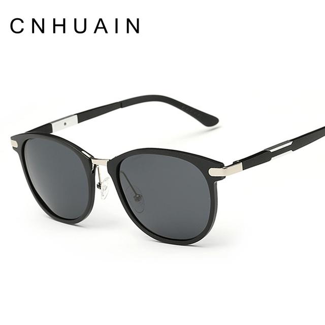 CNHUAIN Design Da Marca óculos de Sol dos homens Polarizados Óculos De Sol Para Mulheres Dos Homens Óculos de Condução de Alumínio E Magnésio Óculos Masculinos Do Vintage