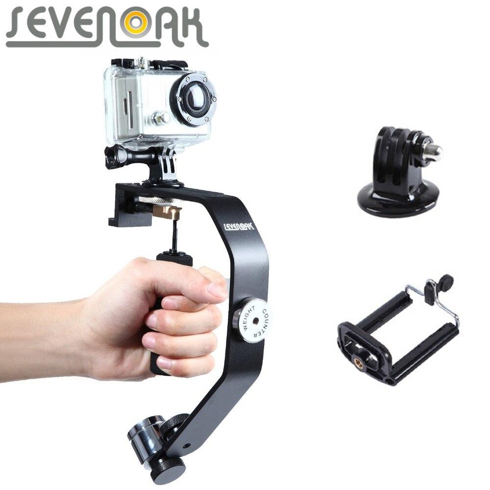 Sevenoak SK-W08 Mouvement Caméra Stabilisateur Cardan Poche Steadycam pour iPhone 7 6 6 s 5 4S GoPro Hero 4 3 3 + Sony DV Appareil Photo REFLEX NUMÉRIQUE