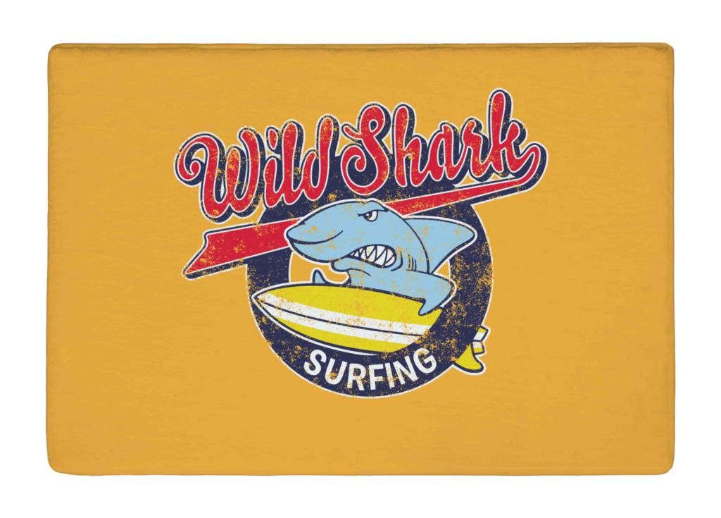 Floor Mat Retro Yellow Cute Surfing Shark Print Non-slip Rugs Carpets  alfombra For Indoor Outdoor living kids room e026b8eaab5