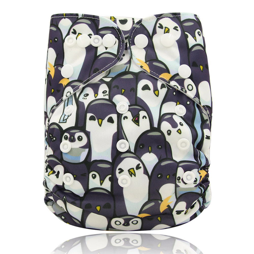 Reusable Cloth Pocket Diaper Cartoon Print Brand Kids Adjustable Nappy Washable Unisex Baby Diapers Cover Available 0-3years