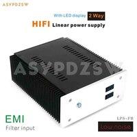 2 Way HIFI Fully discrete Low Noise linear power supply DC 12V+12V With LED EMI input