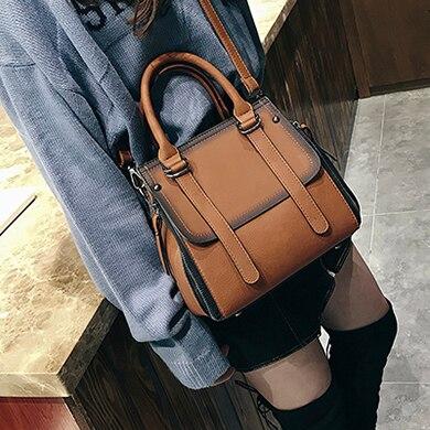 LEFTSIDE винтажные новые сумки для женщин женские брендовые кожаные сумки высокого качества маленькие сумки женские сумки через плечо повседневные - Цвет: Brown B