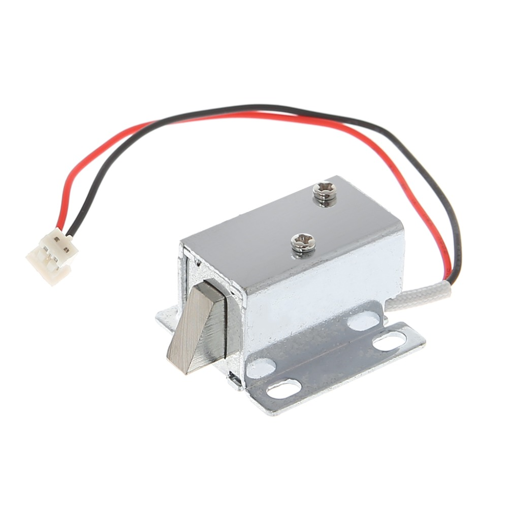 Electronic Lock Catch Door Gate 12V 0.4A Release Assembly Solenoid Access Control title=