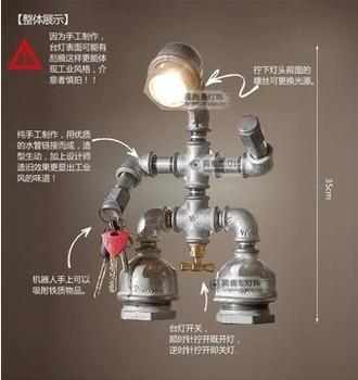Lámpara De Mesa LED De Tubo Vintage En Loft, Lámparas De Mesa De Estilo Industrial Para Dormitorio, Sala De Estar, Lámparas De Mesa Abajur