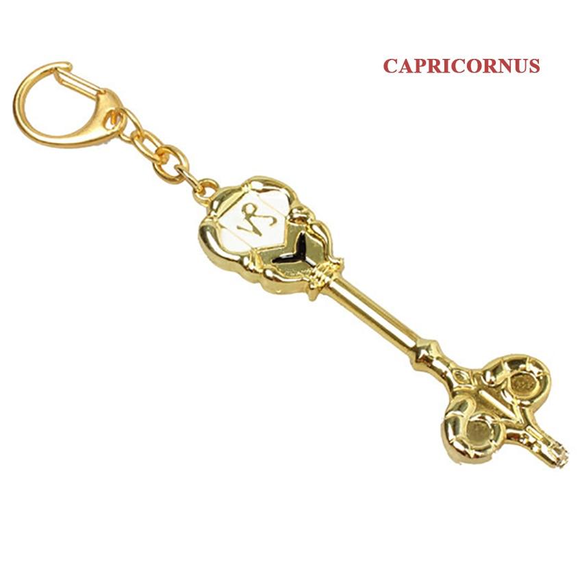 Модный Сказочный хвост, Зодиак, звезда, дух волшебника, Lucy, вызовет ключ, 12 ключей, брелок для ключей «Созвездие», косплей, подарок - Цвет: Capricorn