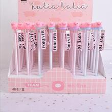 48 Pcs Gel Pens Wishing Pig Pendant Black Color Kawaii Gift Gel-ink for Writing Cute Stationery Office School Supplies