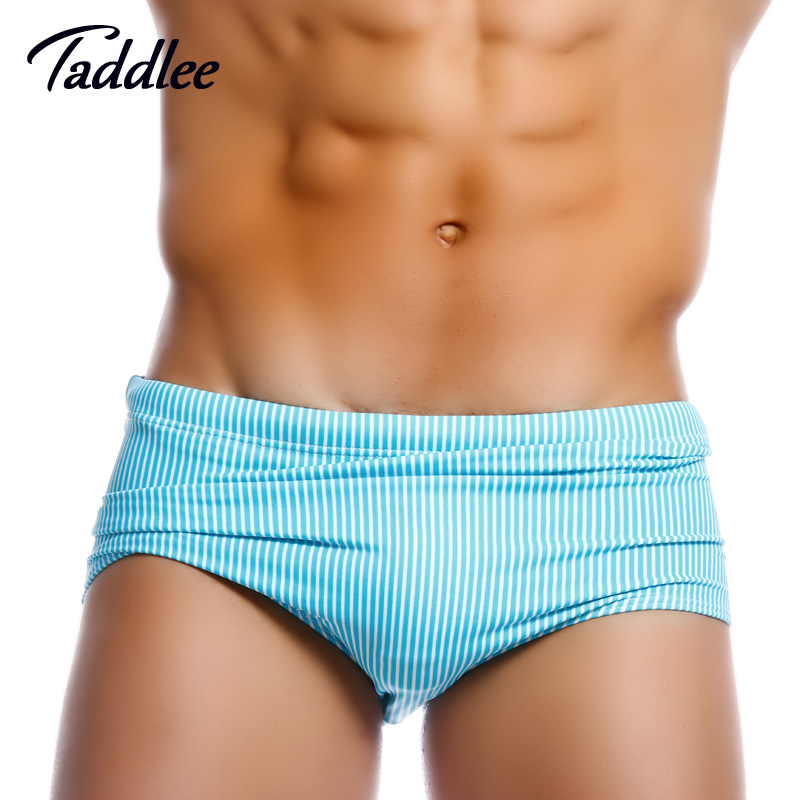 Taddlee Brand Swimwear Man Swimming Boxers Gay Penis Pouch Low Waist Designed New Swimsuits Brazilian Cut Swimming Boxer Trunks